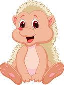 Cute baby hedgehog cartoon — Stock Vector