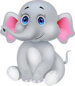 Schattig olifant cartoon — Stockvector