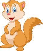 Cute squirrel cartoon — Stock Vector