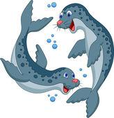 Cute seal cartoon — Stock Vector