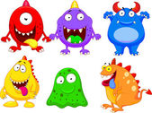 Cute monster collection set — Stock Vector