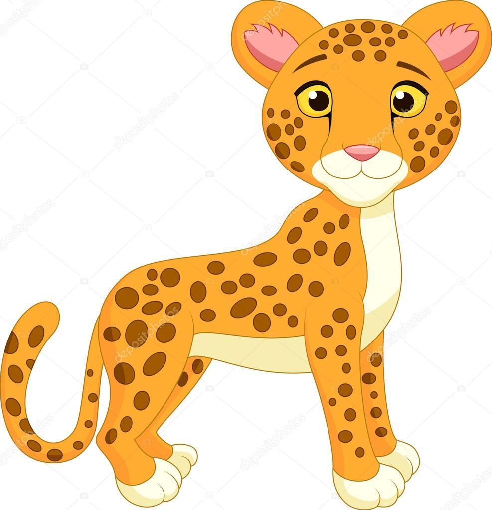 Baby cheetah clipart