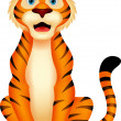Cute tiger cartoon sitting — Stock Vector #27976833