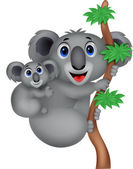 Mother and baby koala — Stock Vector