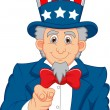 Uncle Sam pointing with his finger — Stock Vector #27986727