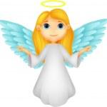 Cute angel cartoon — Stock Vector