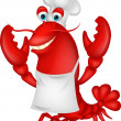 Cute lobster cartoon  — Imagen vectorial