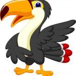Cute toucan cartoon presenting — Stock Vector