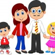 Stock Vector: Happy family cartoon