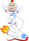 Astronaut cartoon — Stock Vector
