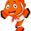 Cute clown fish cartoon — Stock vektor #28529311