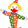 Cute clown cartoon — Vector de stock #28529815