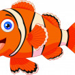 Stockvektor : Cute clown fish cartoon