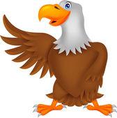 águila de dibujos animados que agita — Vector de stock