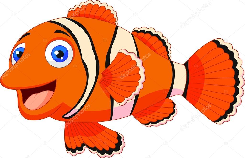 Cartone animato carino pesci pagliaccio — vettoriali stock