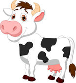 Cute cow cartoon — Stock Vector