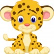 Cute leopard cartoon — Stock Vector #32224903