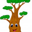 Tree cartoon character — Stock Vector