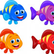 Stock Vector: Cute fish cartoon