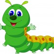Cute caterpillar cartoon — Stock Vector