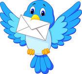 милые птицы доставки письма — Cтоковый вектор