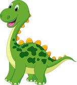 Cute dinosaur cartoon — Stock Vector