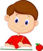 Boy reading book — Stock Vector