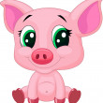 Cute pig cartoon — Stock Vector #32962765