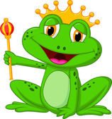 The baby frog king — Stock Vector