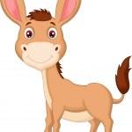 Cute donkey cartoon — Stock Vector #33876433