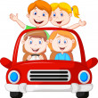 Road Trip with family — Stock Vector