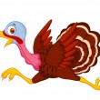 Stockvektor : Cartoon turkey running