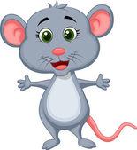 Cute mouse cartoon — Stock Vector