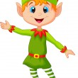 Cute Christmas elf — Stock Vector
