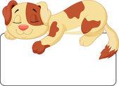Cute dog cartoon — Stock Vector