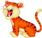 Caricature de tigre rugissant — Vecteur