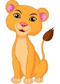 Lioness cartoon — Stock Vector