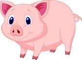 Cute pig cartoon — Stock Vector