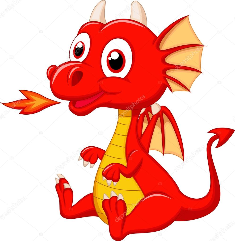 Cute Cartoon Dragon