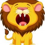 Lion cartoon roaring — Stock Vector