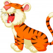 Cute tiger cartoon roaring — Stock Vector #35527383