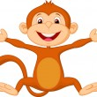 Happy monkey cartoon — Stock Vector