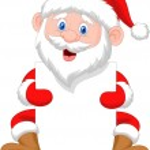 Santa clause cartoon holding blank sign — Stock Vector #35748483
