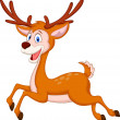 Cute deer cartoon running — Stock Vector #35749689