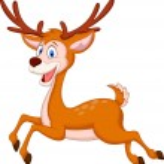 Cute deer cartoon running — Stock Vector