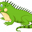 Cute iguana cartoon — Stock Vector