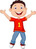 Happy cartoon boy — Stock Vector