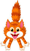 Afraid cat cartoon — Stock Vector