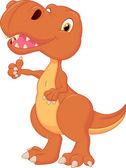 Dinosaur cartoon giving thumb up — Stock Vector