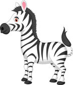 Cute zebra cartoon — Stock Vector
